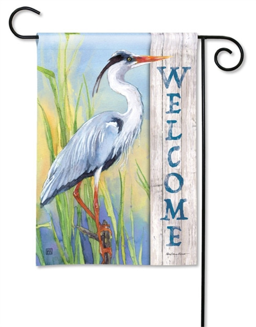 Blue Heron Garden Flag