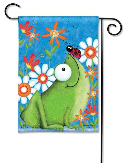 Frog & Ladybug Garden Flag
