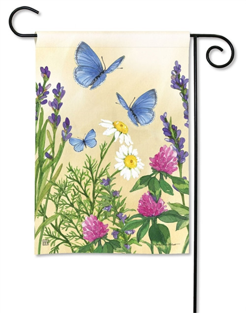 Blue Butterflies Garden Flag