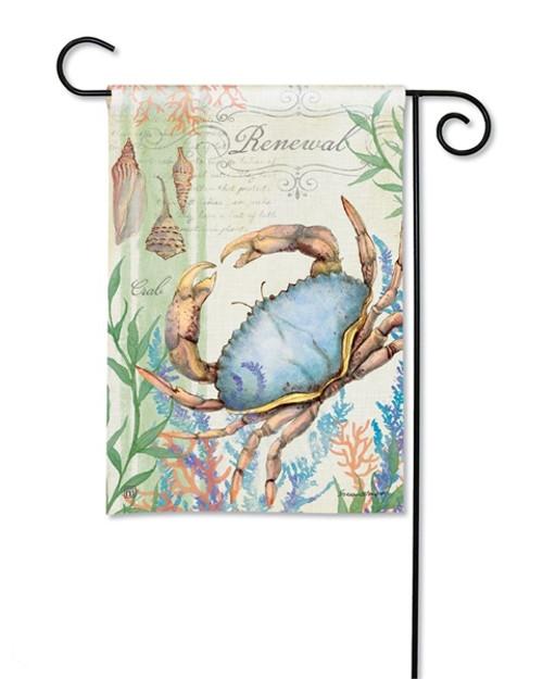 Blue Crab Renewal Garden Flag