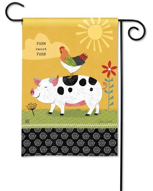 Farm Sweet Farm Charm Garden Flag