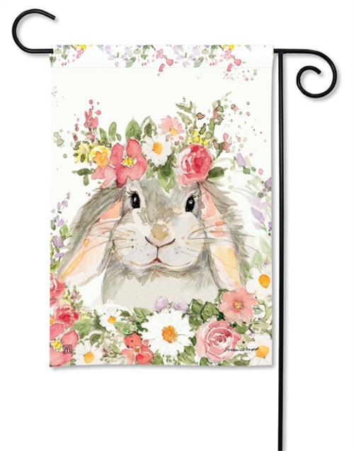 Flower Bunny Garden Flag