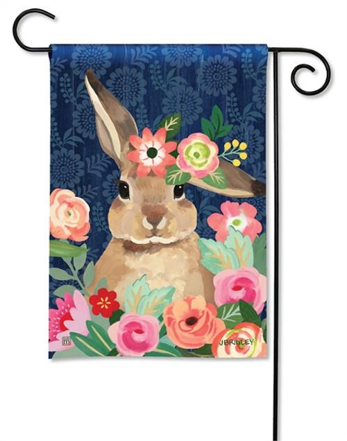 Bunny Flower Bliss Garden Flag