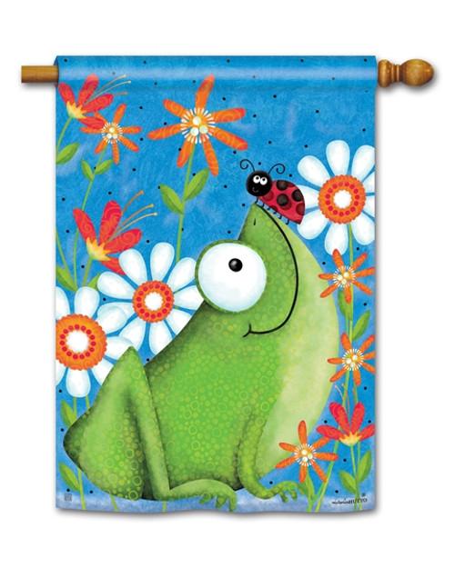 Frog & Ladybug House Flag
