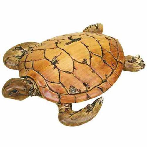 Driftwood-Look Sea Turtle Figurine