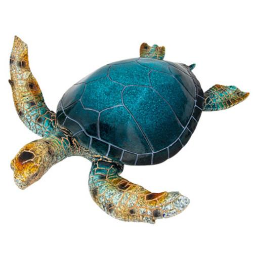 Extra Large Blue Sea Turtle Figurine