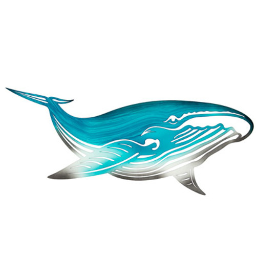 Metal Whale Wall Décor