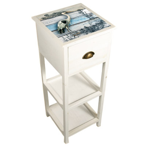 Heron Wood Accent Table, Left