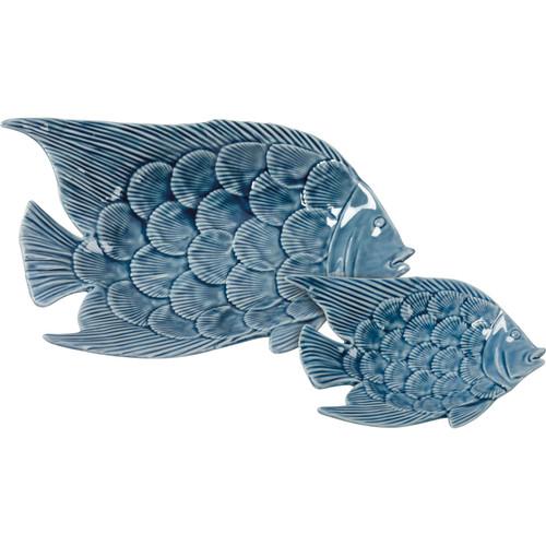 Blue Fish Trinket Set