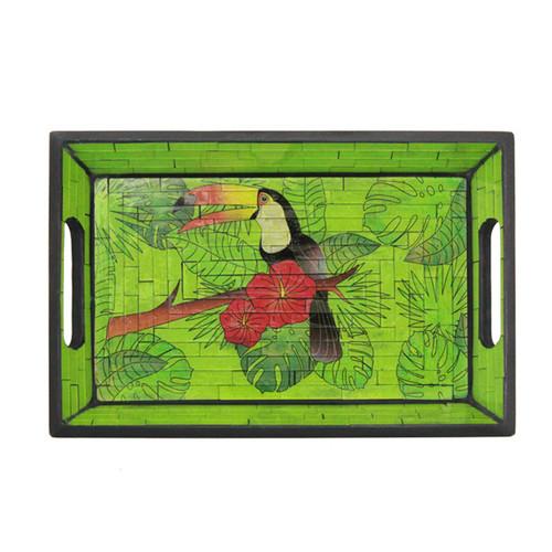 Green Toucan Tray