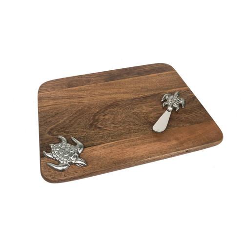Sea Turtle Cutting Board & Knife Set