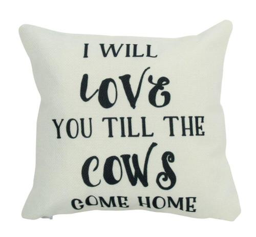 Cows Come Home Throw Pillow