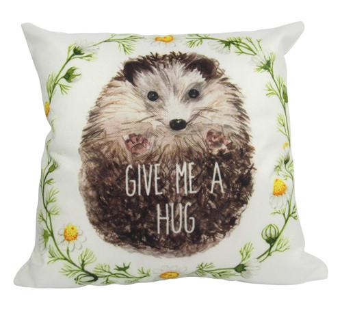 Give Me A Hug Hedgehog Throw Pillow