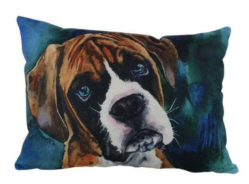 Watercolor Boxer Throw Pillow