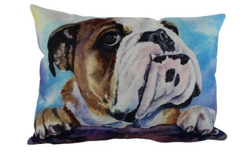 Watercolor English Bulldog Throw Pillow