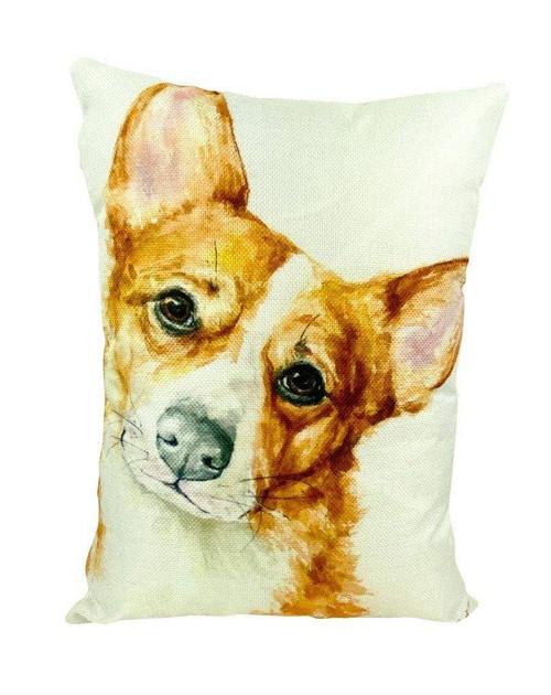 Watercolor Corgi Throw Pillow