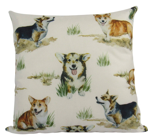 Welsh Corgis Throw Pillow