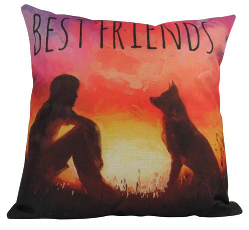 Best Friends Dog Accent Pillow