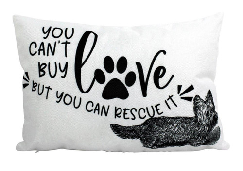 Can't Buy Love - Dog Throw Pillow