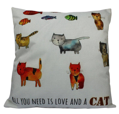 All You Need...Cat Accent Pillow