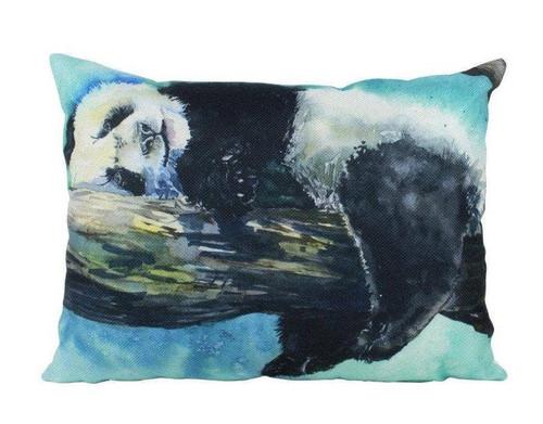 Watercolor Panda Throw Pillow
