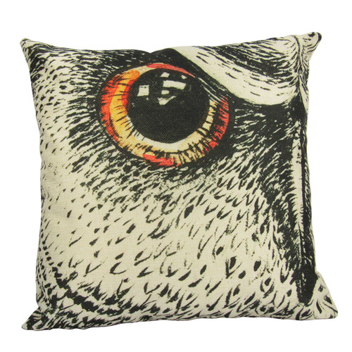 Owl Eye Sketch Throw Pillow