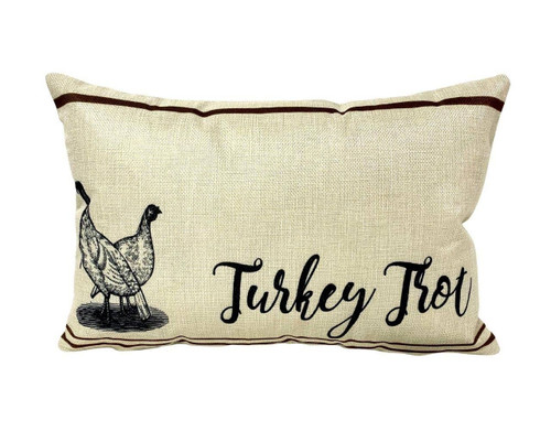 Turkey Trot Throw Pillow
