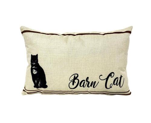 Barn Cat Accent Pillow