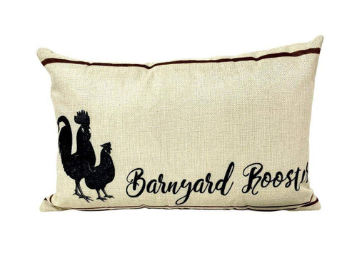 Barnyard Rooster Accent Pillow