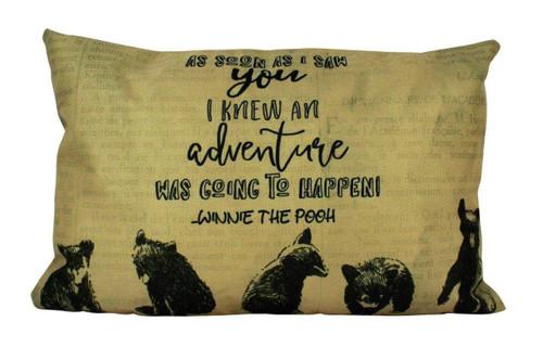 Bear Adventure Accent Pillow