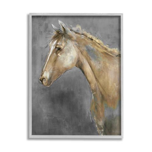 Classic Brown Horse Framed Art
