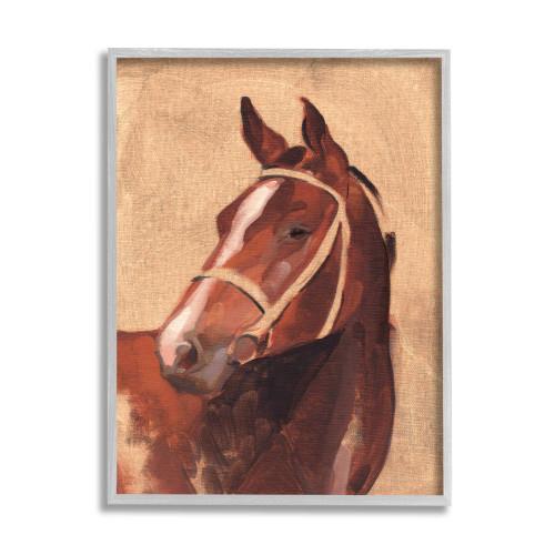 Textured Vintage Horse Framed Art