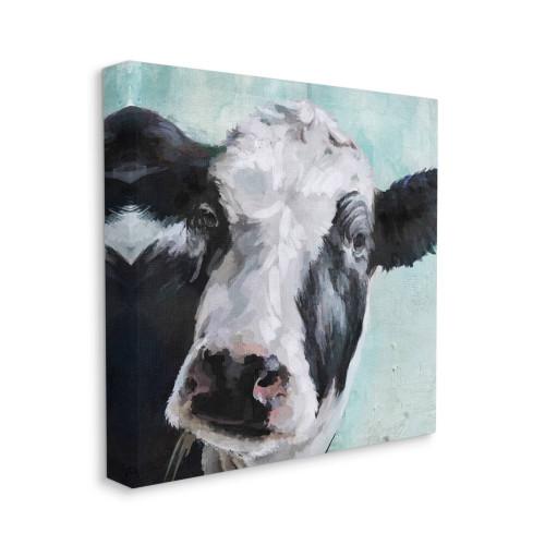 Black & White Cow Canvas Wall Art