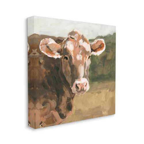 Brown Cow Canvas Wall Art