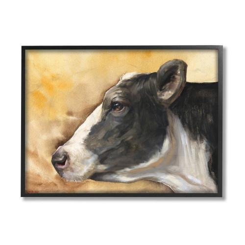 Black & White Cow Framed Art