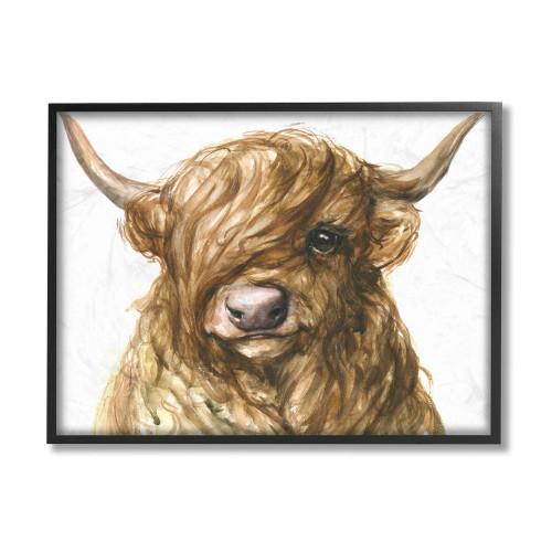 Highland Brown Bull Calf Framed Art