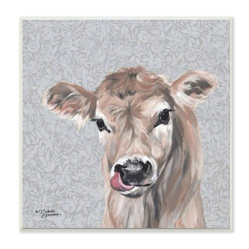 Brown Calf Portrait Art
