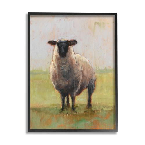 Sheep in a Field Framed Art