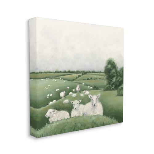 Flock of Sheep Canvas Wall Art