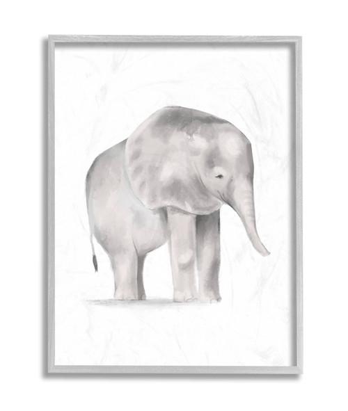 Baby Elephant Textured Framed Art