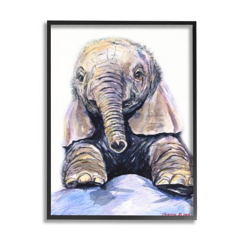 Baby Elephant Framed Wall Art