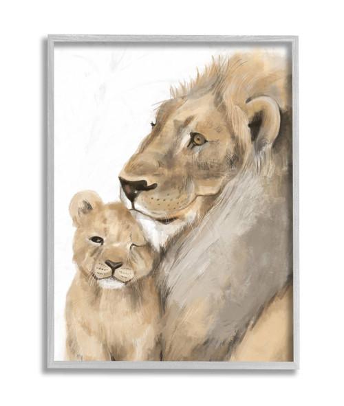 Lion & Cub Framed Art