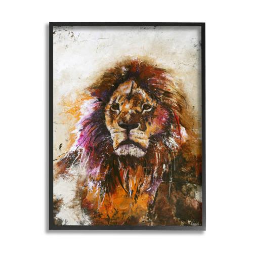 Abstract Lion Framed Art