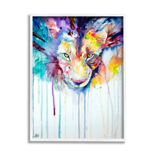 Watercolor Lion Framed Art