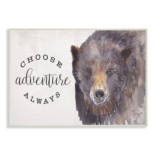 Choose Adventure - Bear Watercolor Art