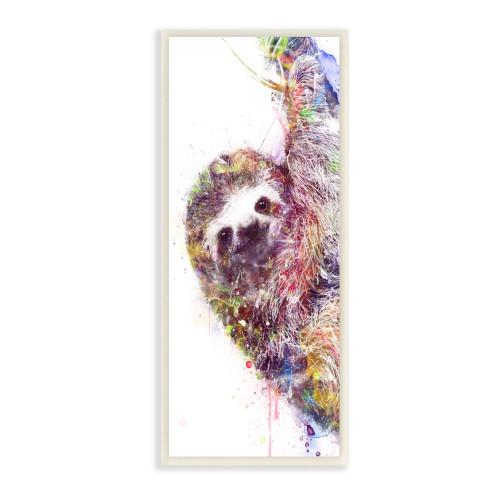 Watercolor Sloth Framed Art