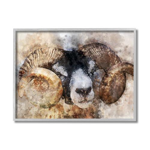 Abstract Big Horn Sheep Framed Art