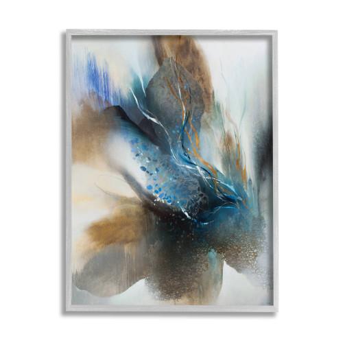 Abstract Blue Bird Framed Art