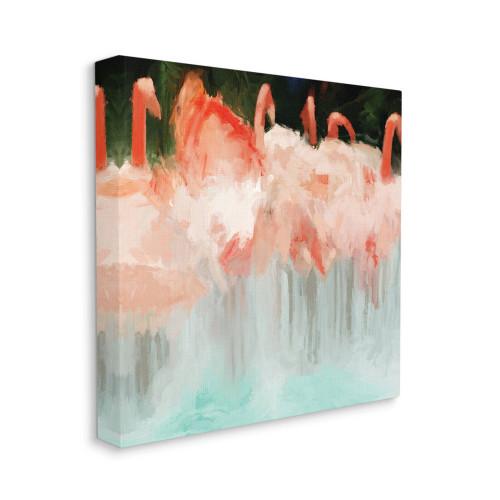 Abstract Flamingos Canvas Wall Art