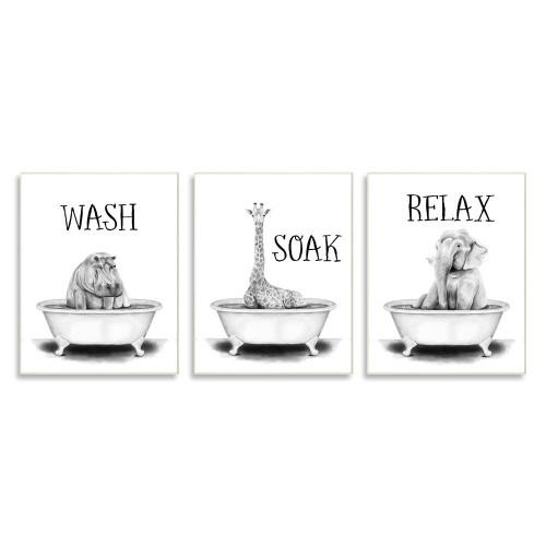 Jungle Animals Bath Plaque Set